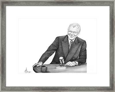 David Letterman Framed Print by Murphy Elliott