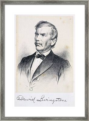 David Livingstone Framed Print by British Library