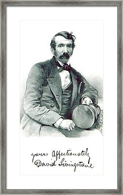 Framed Print featuring the photograph David Livingstone, Scottish Explorer by British Library