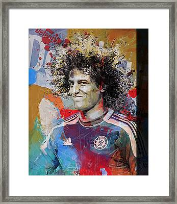 David Luiz - B Framed Print by Corporate Art Task Force