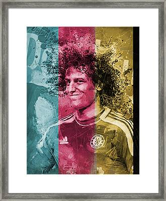 David Luiz - C Framed Print by Corporate Art Task Force