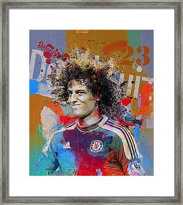 David Luiz Framed Print by Corporate Art Task Force