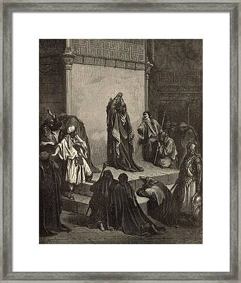 David Mourning Over Absalom Framed Print by Antique Engravings