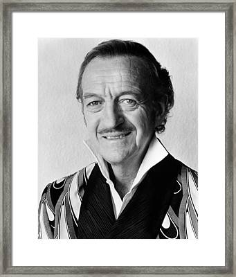 David Niven In Trail Of The Pink Panther  Framed Print by Silver Screen