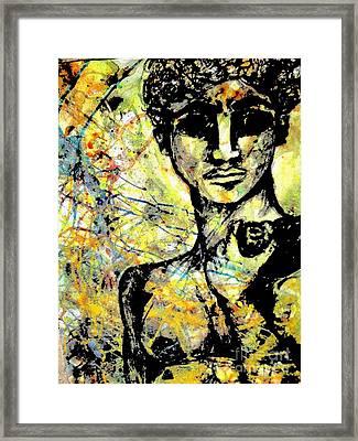 David Of Goliath Framed Print by Amy Sorrell