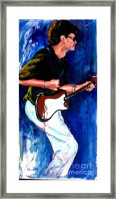 David On Guitar Framed Print