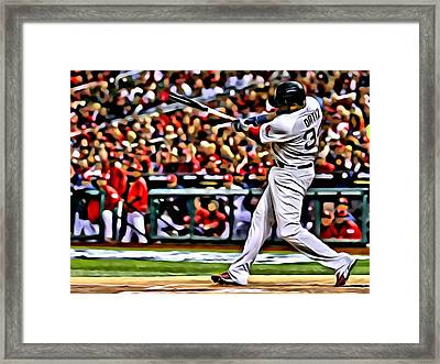 David Ortiz Painting Framed Print by Florian Rodarte