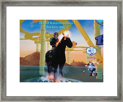 David Rabbitmittens Framed Print by David Lovins