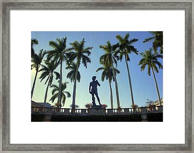 Under David's Watchful Eye Framed Print