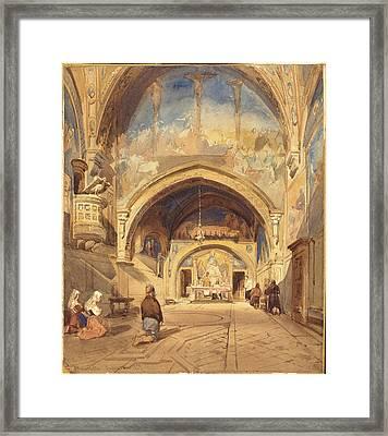 David Roberts Scottish, 1796-1864, The Interior Framed Print