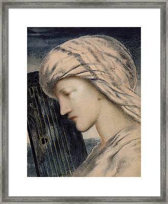 David Framed Print by Simeon Solomon