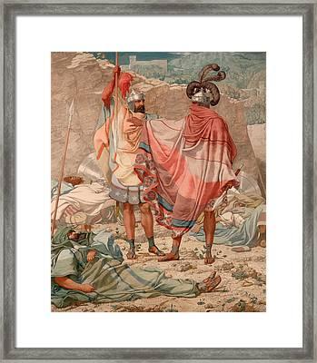David Sparing Saul's Life Framed Print by Mountain Dreams