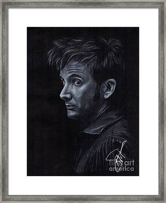David Tennant 3 Framed Print by Rosalinda Markle