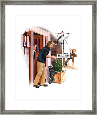 David Versus Goliath Framed Print by Kevin Hill