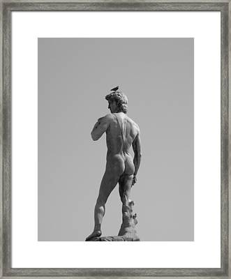 Framed Print featuring the photograph David by Victoria Lakes