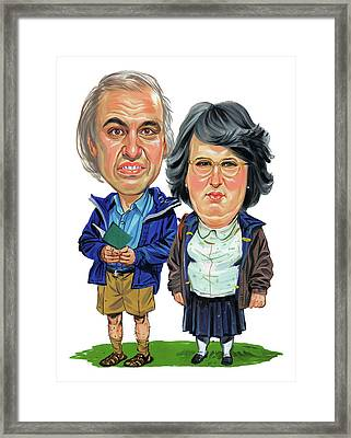 David Walliams And Matt Lucas As George And Sandra Framed Print by Art