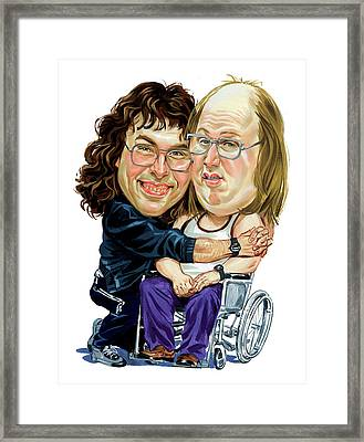 David Walliams And Matt Lucas As Lou And Andy Framed Print by Art