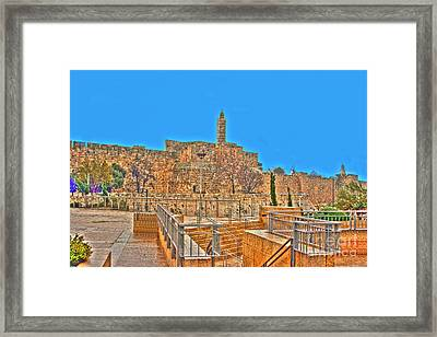 Framed Print featuring the photograph Davids Citadel - Israel by Doc Braham