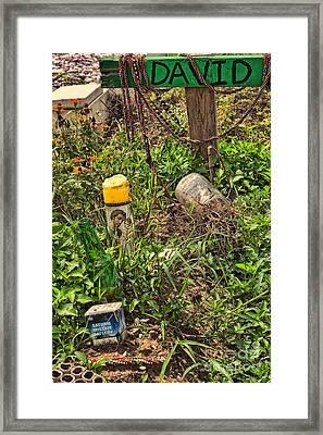 David's Grave New Orleans Framed Print