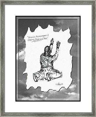 David's Prayer - Sketch Framed Print