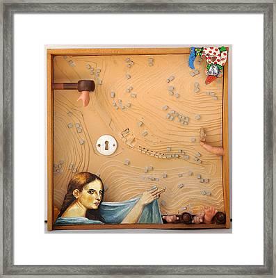 David's Sin Framed Print by Nekoda  Singer