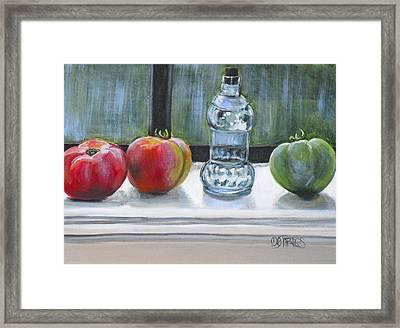 David's Tomatos Framed Print by Melissa Torres
