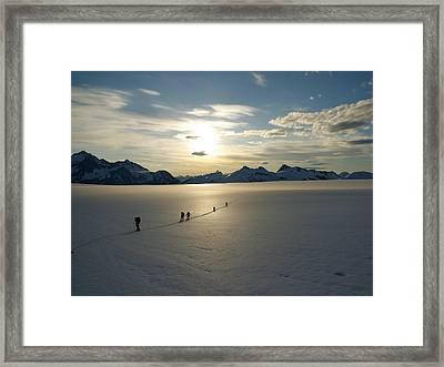 Davidson Glacier - Chilkat Range Framed Print by Ryan Fell