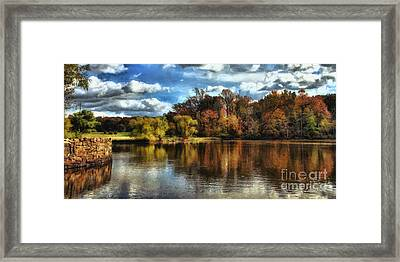 Davidson Mill Pond 2 Framed Print by Louise Reeves