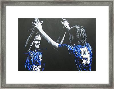 Davie Cooper - Ally Mccoist - Glasgow Rangers Fc Framed Print