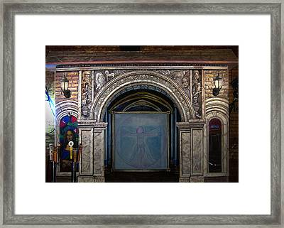 Davinci Pub Architectural Mural Framed Print by Dan Terry