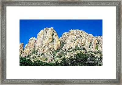 Davis Mountains Of S W Texas Framed Print by Debra Martz