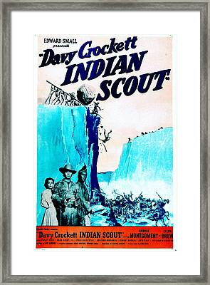Davy Crockett Indian Scout, Us Poster Framed Print by Everett