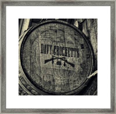 Davy Crocketts Whiskey Framed Print by Dan Sproul
