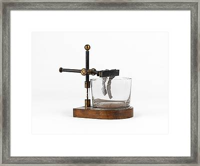 Davy's Potassium Apparatus Framed Print by Science Photo Library