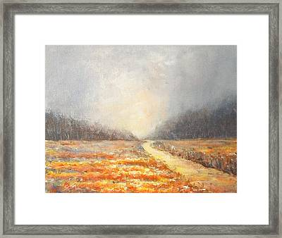 Framed Print featuring the painting Dawn 1 by Jane  See