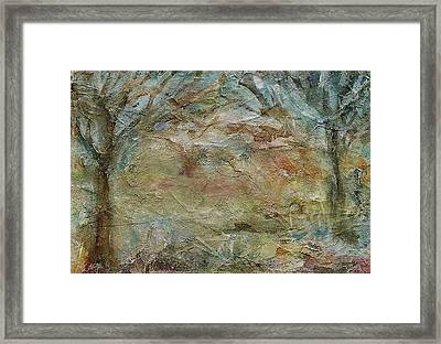 Framed Print featuring the painting Dawn 2 by Mary Wolf