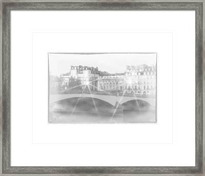 Dawn Along The Seine Framed Print