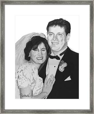 Framed Print featuring the painting Dawn And Brad by Ferrel Cordle