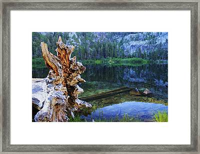 Framed Print featuring the photograph Dawn Arrives At Eagle Lake by Sean Sarsfield