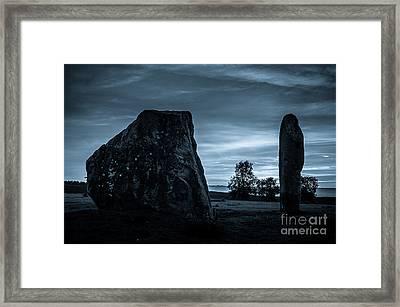 Dawn At Avebury Stone Circle Framed Print by Peter Noyce