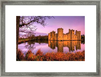 Dawn At Bodiam Framed Print