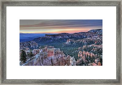 Dawn At Bryce Canyon Framed Print