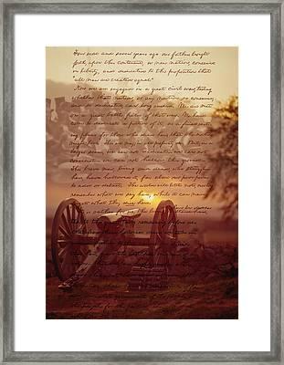 Dawn At Gettysburg Framed Print