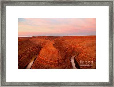 Dawn At Goosenecks Of The San Juan River Framed Print by Douglas Taylor