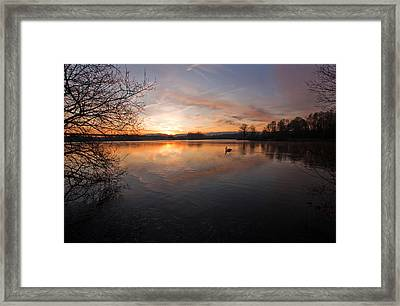 Dawn At Haysden Framed Print
