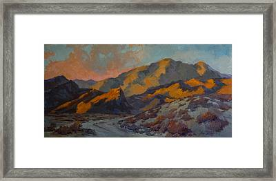 Dawn At La Quinta Cove Framed Print by Diane McClary