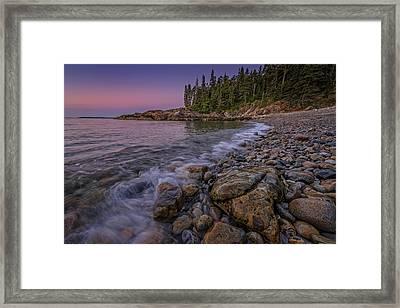 Little Hunter's Beach, Acadia National Park Framed Print