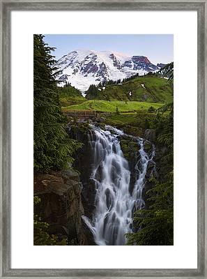 Dawn At Myrtle Falls Framed Print
