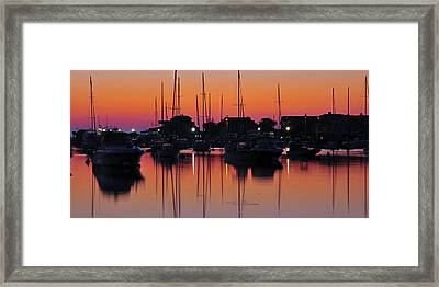 Dawn At Oak Bluffs Framed Print