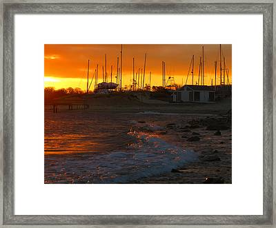 Dawn At Sesuit Harbor Framed Print by Dianne Cowen